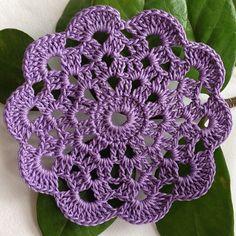 Apenas uma rosácea de crochê