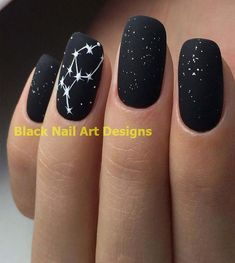 20 Simple Black Nail Art Design Ideas #nailart