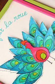 Les ateliers ARTiFun - atelier d'arts plastiques et loisirs créatifs en Guadeloupe: Quel frimeur ce paon!