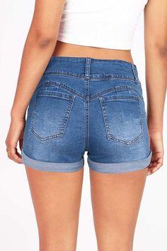 Trio Denim Shorts