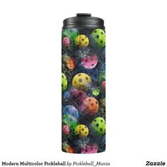Modern Multicolor Pickleball Thermal Tumbler