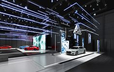 Audi Motor Show design concept. Exhibition Stall, Exhibition Booth Design, Exhibition Display, Audi Motor, Exibition Design, Expo Stand, Virtual Studio, Pavilion Design, Showroom Design