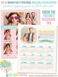 Free Photo Cropping Guide & 2013 Calendar Template #photo #photoshop #photography #photographer #templates #digital #free #psd #cropping #guide