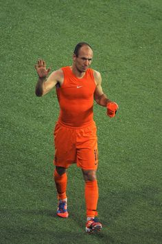 Stomping off: Arjen Robben stormed off after being substituted against Germany