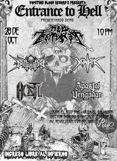 """""""METALHOUSE"""": HELL TREPANNER presenta """"Entrance to Hell"""" Tape. Vomiting Bloody Records presenta: """"Entrance to Hell""""  El 1er Demo TAPE de @HELL TREPANNER Death Thrash Metal DEBUT  desde Villa El Salvador Lima-Perú"""