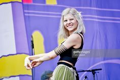 Norwegian singer Aurora Aksnes performs live on stage during second day of Lollapalooza Festival at the Treptower Park on September 11, 2016 in Berlin, Germany.