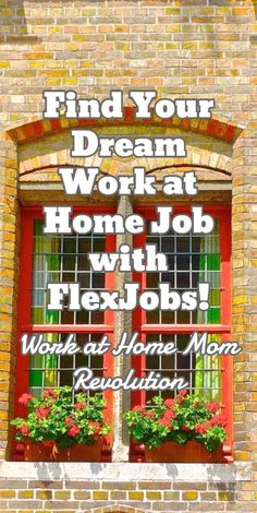 FlexJobs: Find a Work at Home Job the Easy Way! - Work at Home Mom Revolution