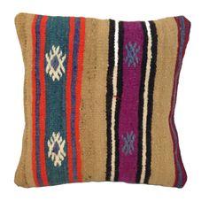 Handmade Turkish Kilim Pillow Cushion Cover (approx 16  x 16 ) - code 81b