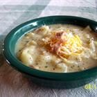 Made this baked potato soup tonight and it was not only super easy but really delicious!!