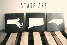 DIY State Art Home Decor. Make your own wall art using this simple project tutorial.