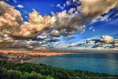 The hidden sunset Lattakia - Syria.