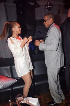 Beyonce and Jay-Z, dare I say, getting Jiggy with it!