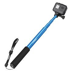 Luxebell Selfie Stick Adjustable Telescoping Monopod Pole for Gopro Hero 5 Session 5 Hero 4332 40 Blue -- You can get additional details at the image link.
