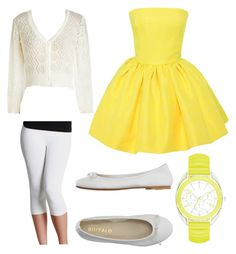 """""""Lemon Cupcake"""" by orchidflowrr ❤ liked on Polyvore featuring Nikibiki, Martin Grant and DIENNEG"""