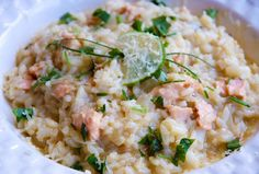 salmon and lime risotto