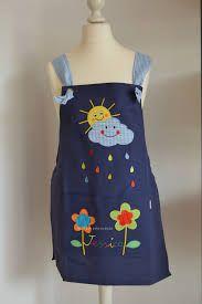 Resultado de imagen para delantales para maestras Sewing Hacks, Sewing Tips, Patch, Fasion, Pattern, Kitchen Supplies, Classroom, Ideas, Google