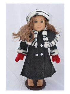 Image detail for -Doll Clothing Gray Winter American Girl Doll Coat for 18 Inch Dolls ...
