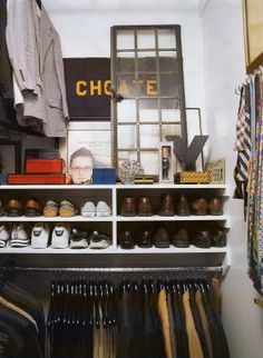 shoe organization - maybe stack a couple under bed?