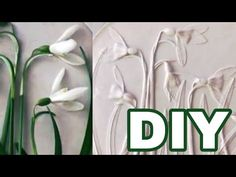DIY stampin up Tutorial by KLEVER /art, homedecor and gift ideas Diy Arts And Crafts, Hobbies And Crafts, Plaster Art, Clay Ornaments, Objet D'art, Unusual Gifts, Diy Clay, Flower Tutorial, Craft Tutorials