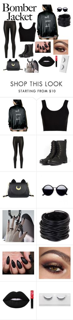 """Untitled #84"" by izzymybelly ❤ liked on Polyvore featuring Calvin Klein Collection, The Row, Usagi, Saachi, Lime Crime and bomberjackets"