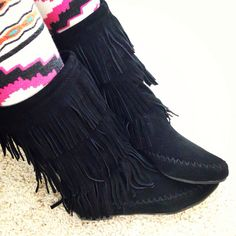 I am in LOVE with my new black Indian girl boots! Phenom!