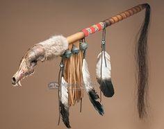 "Apache Indian Spirit Medicine Rattle 26""   (r119)"