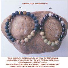 Couples fertility bracelet set $30.00