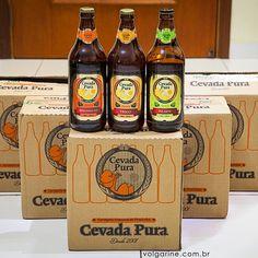 Acabou de chegar em casa… Em breve fotos da degustação. Cerveja Cevada Pura, tipos: Pilsen, Weiss e Pale Ale de Piracicaba/SP. Foto @v...