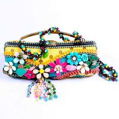 Image detail for -MARY FRANCES Happy Clutch Frame Shoulder Purse Handbag | eBay