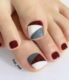 63 Ideas pedicure ideas red toenails white nails for 2019 Red Toenails, Blue Nails, Pedicure Nail Art, Toe Nail Art, Pedicure Ideas, White Pedicure, Pedicure Designs, Jamberry Pedicure, Cute Toe Nails