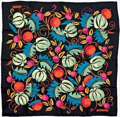Stunningly coloured silk scarf from a design by Raoul Dufy.