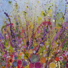 Heartsong 2006 40cmx40cm oil on canvas -Early Meadowlands - Yvonne Coomber