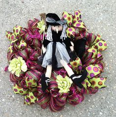 Halloween Wreath Witch Deco Mesh Extra Large