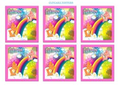 Girls Party Ideas :: Care Bears :: Care Bears Cupcake Toppers Printable