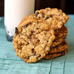 Beat the back-to-school and work blues with The Best Oatmeal Cookies - skip the raisin debate; add them or don't, these are still the best oatmeal cookies. Perfect to tuck into lunchboxes or with a tall glass of cold milk as an after school snack.