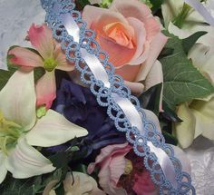 blue garter wedding lace garter bridal garter by laceforbrides, $23.50