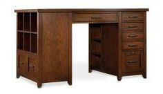 1-pedestal and 1 bookcase desk made by Hooker Furniture, sold through LEF, Tennessee
