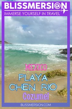 Many tourists stick to the West side of Isla Cozumel, Mexico. However, if you venture to the rougher, untamed side of the island, you'll be rewarded with gems like Chen Rio Cozumel. #beaches #cozumel #mexico