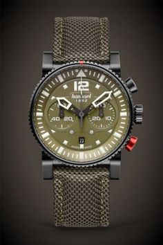 b7ee6a02000d Hanhart Primus Black Ops Pilot LE - Chronograph Calibre (Valjoux 7750  based) Automatic Reserve 82 pieces made