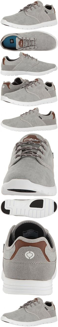 C1RCA Men's Atlas Cushioned Lightweight Non Slip Skate Skateboarding Shoe, Washed Gray/White, 12 M US
