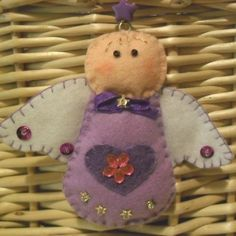"""Felt Angel Christmas Decoration LILAC"""