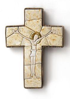 Porcelain cross christian art