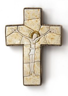 Porcelain cross christian art