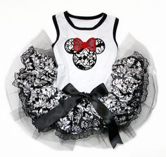 Pet dress black and white mickey mouse dog by Personalizedkiddie