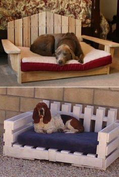 Put the dog bed over the Farmhouse coffee table & there would be space for the dog on top & space for either toys or food & water underneath.