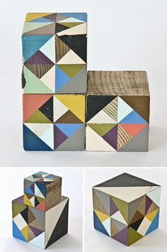 More geo blocks, this time by artist Serena Mitnik-Miller