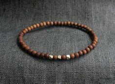 Sandalwood Ocean Jasper Bracelet / Men Bracelet by Bracelet Men, Bracelets For Men, Beaded Bracelets, Turquoise Bracelet, Gemstones, Sterling Silver, Unique Jewelry, Handmade Gifts, Etsy