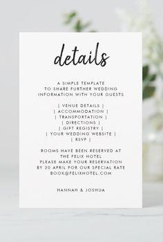 Modern Minimalist, Minimalist Design, Wedding Tips, Wedding Details, Simple Wedding Invitations, Wedding Website, Simple Weddings, As You Like, Handwriting