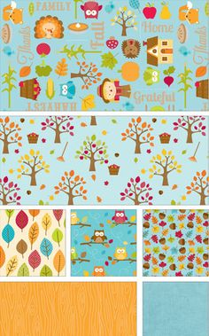 Happy Harvest by Doodlebug Designs for Riley Blake Designs - leaves and trees