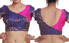 Looking for simple blouse designs for your silk sarees? Check out amazing blouse designs that are cool and super stylish to wear. Brocade Blouse Designs, Saree Jacket Designs, Patch Work Blouse Designs, Saree Blouse Neck Designs, Simple Blouse Designs, Stylish Blouse Design, Designer Blouse Patterns, Sleeves Designs For Dresses, Blouse Models